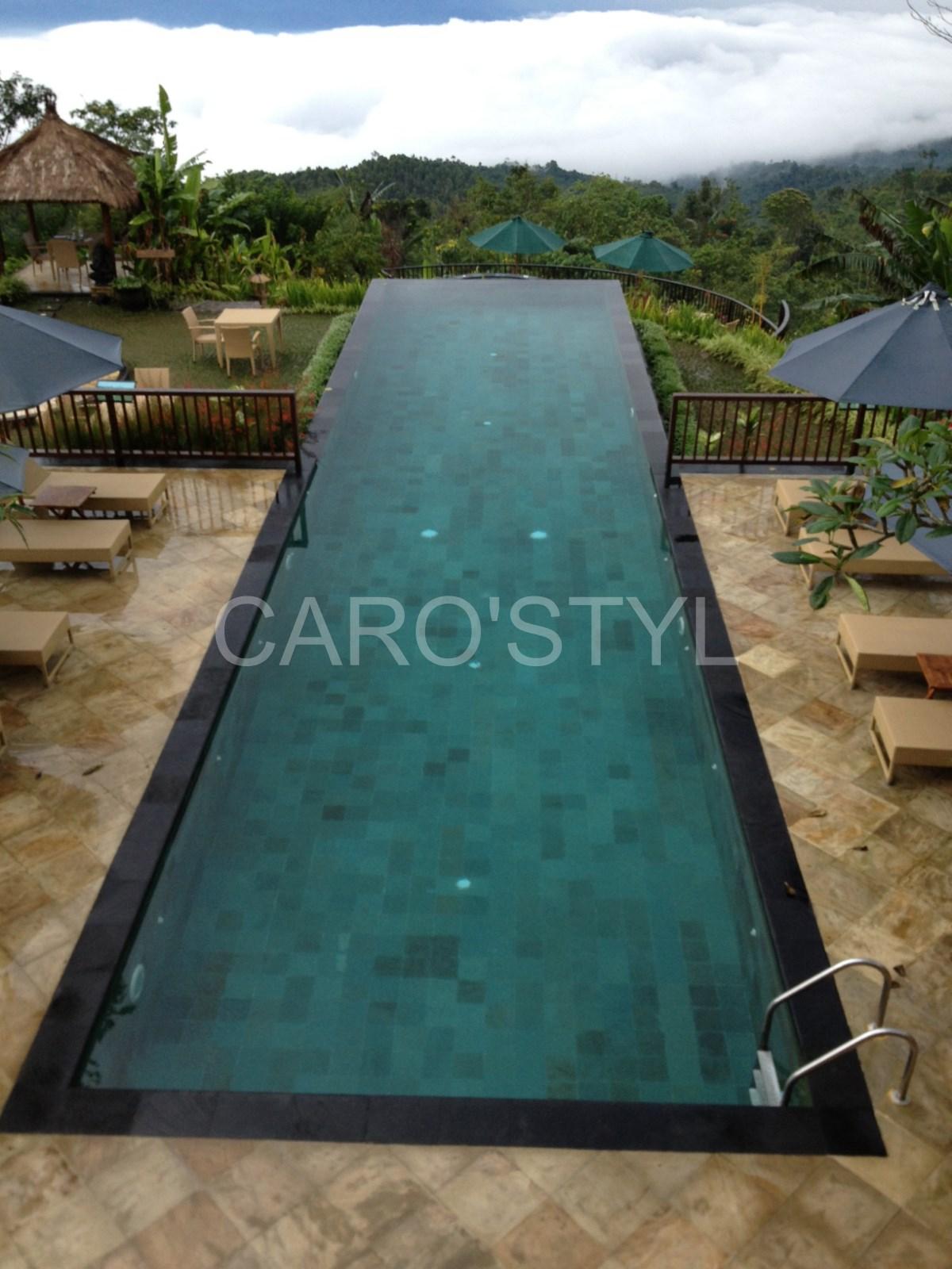 Margelle de piscine 3 et 6 cm, en pierre de lave noire volcanique ...