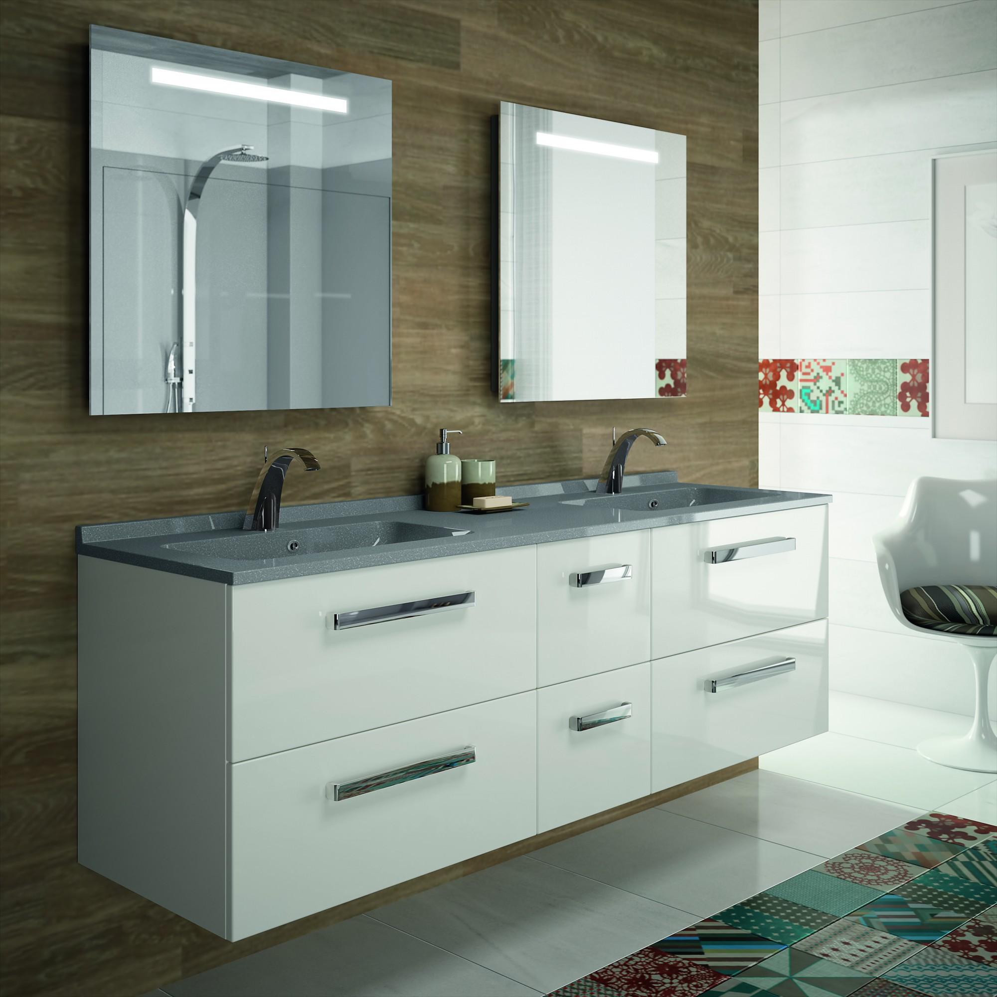 Baignoire Beton De Synthese plan de salle de bains simple ou double vasques en béton de