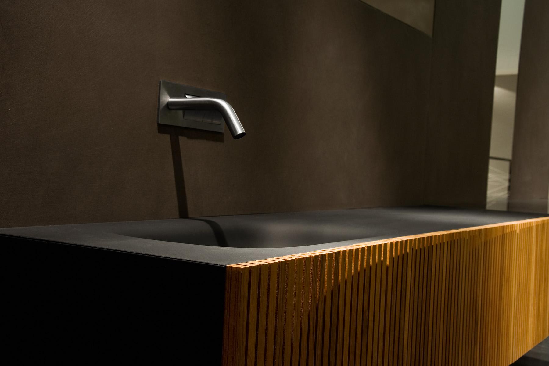 Ensemble de salle de bains en teck avec plan intégré - Magasin de ...