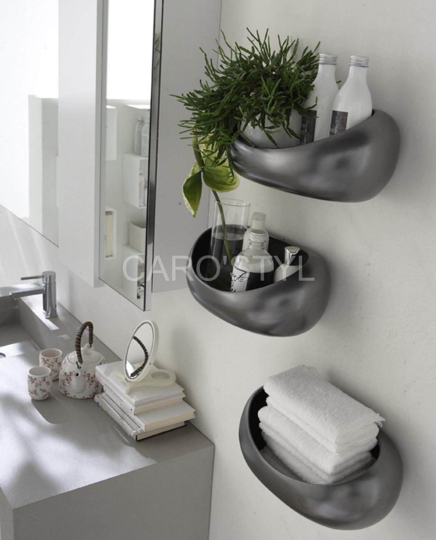 El ment de salle de bains composable au design original magasin de carrelage pierre naturelle - Element de salle de bain ...