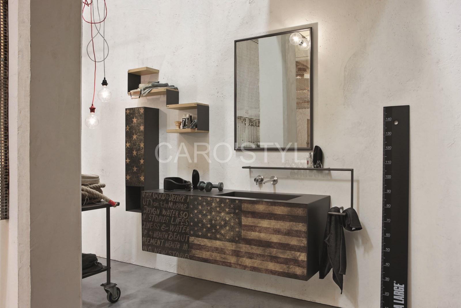 meuble de salle de bains suspendu vintage et design. Black Bedroom Furniture Sets. Home Design Ideas